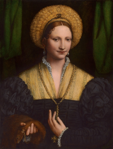 Bernardino_Luini_Lady_with_a_Flea_Fur